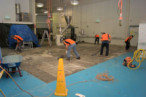 Non Slip Industrial Flooring hard at work